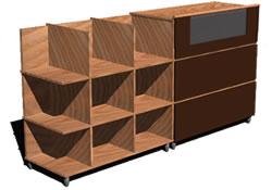 Planos de Mueble estante con ruedas, en Estanterías y modulares – Muebles equipamiento