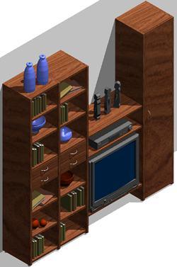 Planos de Mueble modular 3d, en Estanterías y modulares – Muebles equipamiento