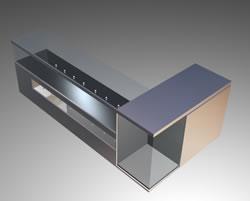 imagen Mueble mostrador - caja 3d con materiales aplicados, en Supermercados y tiendas - Muebles equipamiento