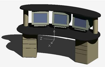 Planos de Mueble para computadoras 3d, en Informática – Muebles equipamiento