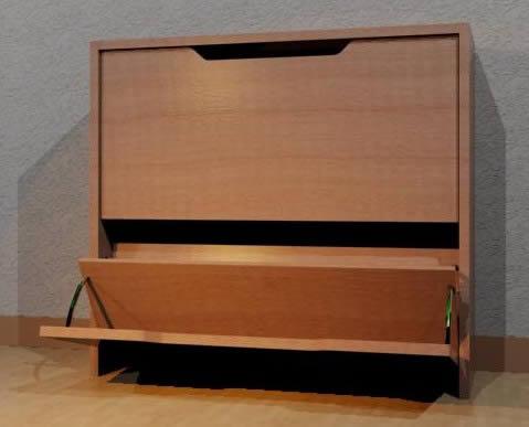 Mueble para guardar zapatos apilable. 3d, en Estanterías y modulares – Muebles equipamiento