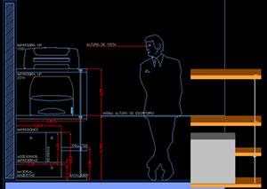 Planos de Mueble para impresoras, en Oficinas y laboratorios – Muebles equipamiento