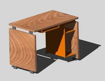 Planos de Mueble para pc en 3d, en Mesas y juegos de comedor 3d – Muebles equipamiento