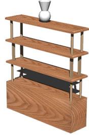 Planos de Mueble para sala, en Estanterías y modulares – Muebles equipamiento