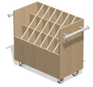 Mueble porta planos con ruedas 3d, en Salas de estar y tv – Muebles equipamiento