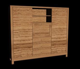 Mueble ropero 3d, en Dormitorios – Muebles equipamiento