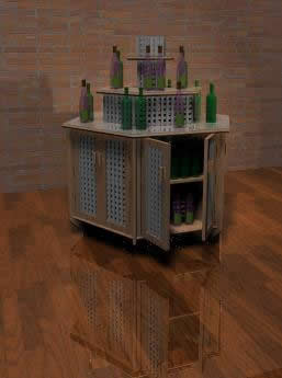 imagen Mueble tipo isla para bares 3d, en Bares y restaurants - Muebles equipamiento
