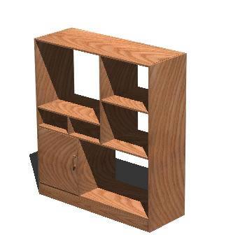 Planos de Mueble tv 3d, en Muebles varios – Muebles equipamiento