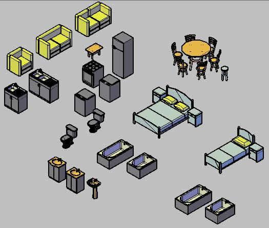 Planos de Muebles 3d, en Muebles varios – Muebles equipamiento