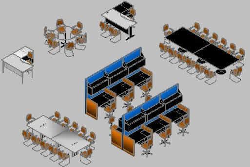 Planos de Muebles 3d oficina 3d, en Oficinas y laboratorios – Muebles equipamiento