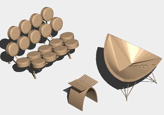 Planos de Muebles clasicos 3d, en Sillones 3d – Muebles equipamiento