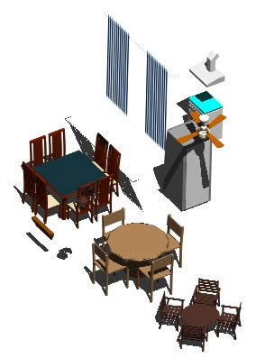 Planos de Muebles comedor cocina, en Cocinas – Muebles equipamiento