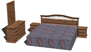 Planos de Muebles de dormitorio principal, en Dormitorios – Muebles equipamiento