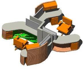 Planos de Muebles de oficina 3d, en Escritorios – Muebles equipamiento