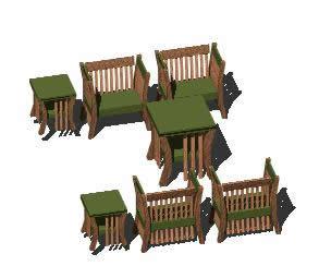 Planos de Muebles de sala de estar, en Mesas y juegos de comedor 3d – Muebles equipamiento