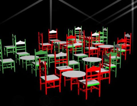 imagen Muebles feria sevilla, en Sillas 3d - Muebles equipamiento
