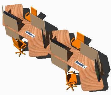 Planos de Muebles informaticos, en Informática – Muebles equipamiento