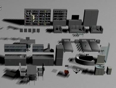 imagen Muebles para sala 3d, en Muebles varios - Muebles equipamiento