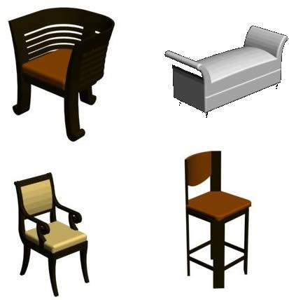 Muebles varios, en Sillones 3d – Muebles equipamiento