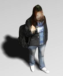 Mujer caminando 3d, en 3d – Personas