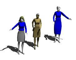 Planos de Mujeres 3d, en 3d – Personas