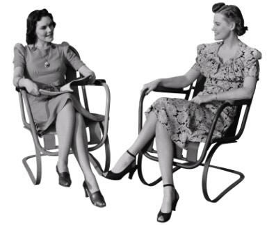 imagen Mujeres sentadas, en Fotografías para renders - Personas