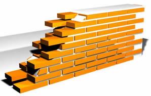 imagen Muro en ladrillo colonial, en Muros de ladrillos - Detalles constructivos