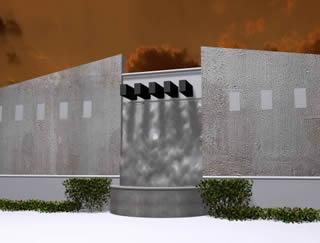Muro lloron 3d, en Proyectos – Parques paseos y jardines