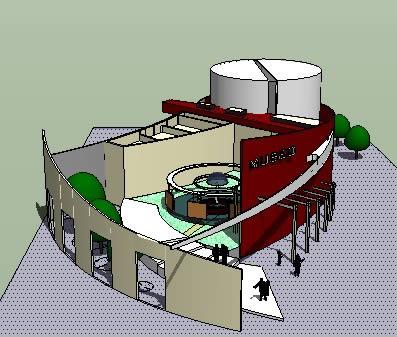 Planos de Museo 3d – sketchup, en Centros culturales salas de exposición museos y stands – Proyectos