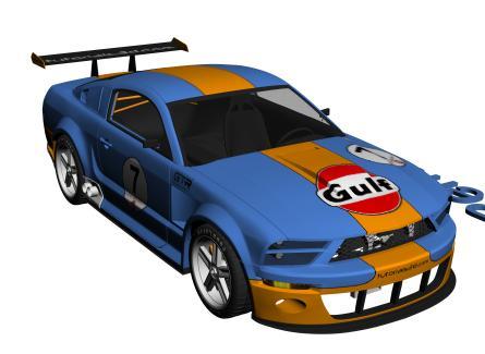 Mustang gt, en Automóviles en 3d – Medios de transporte