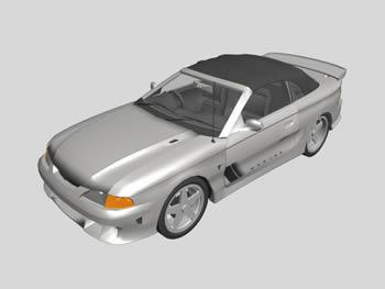 Planos de Mustang saleem, en Automóviles en 3d – Medios de transporte