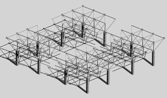 imagen Nave industrial, en Estructuras de acero - Detalles constructivos