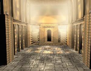 Nave principal de iglesia 3d, en Arq. religiosa – Proyectos
