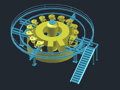Planos de Nido de ciclones 3d, en Industria minera – Máquinas instalaciones