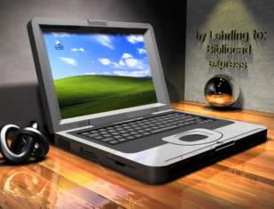 Notebook compaq presario 700 3d con materiales aplicados, en Informática – Muebles equipamiento