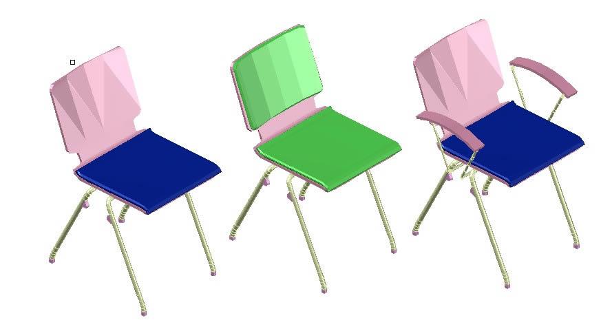 imagen Ns axo sillas 3d, en Sillas 3d - Muebles equipamiento