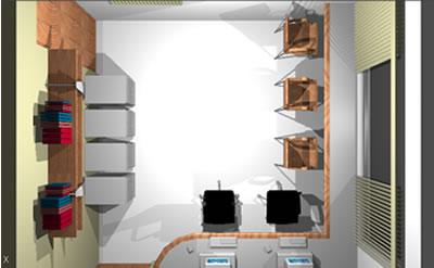 imagen Oficina de computo 3d, en Oficinas bancos y administración - Proyectos