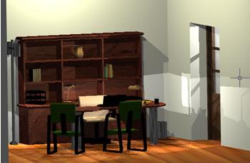 Planos de Oficina gerencia 3d, en Oficinas y laboratorios – Muebles equipamiento