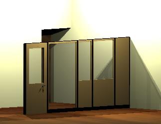 Planos de Oficina jefe comercial 3d, en Oficinas y laboratorios – Muebles equipamiento