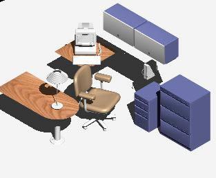 Planos de Oficina3d, en Oficinas y laboratorios – Muebles equipamiento