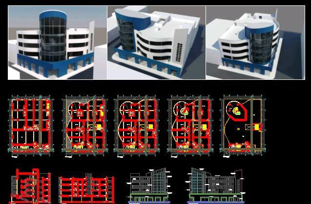 Planos de Oficinas, en Oficinas bancos y administración – Proyectos
