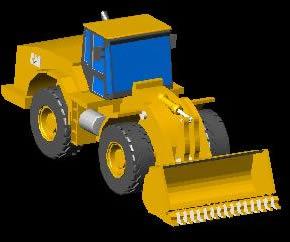 Planos de Pala mecánica 3d, en Maquinaria – Obradores