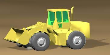 Pala mecánica 3d, en Maquinaria – Obradores