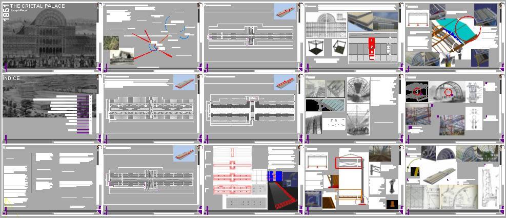 Planos de Palacio de cristal –  paxton josep, en Obras famosas – Proyectos