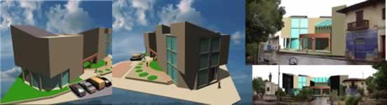 Planos de Palacio municipal, en Oficinas bancos y administración – Proyectos