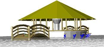 imagen Palapa snack, en Construcciones accesorias - Piscinas y natatorios