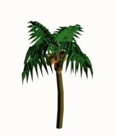 imagen Palmera cocotera. 3d, en Palmeras en 3d - Arboles y plantas