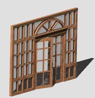 imagen Panel de madera 3d, en Paños acristalados - Aberturas