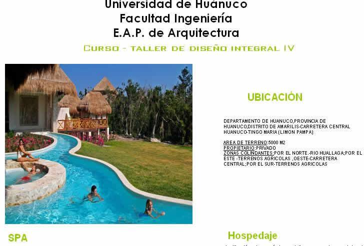 imagen Paneles de investigacion sobre el spa - hospedaje, en Monografías guías y estudios varios - Varios