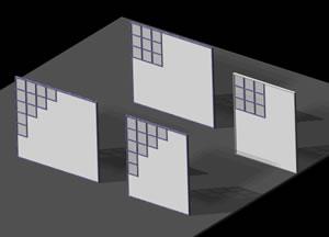 Planos de Paneles divisorios, en Oficinas y laboratorios – Muebles equipamiento